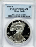 Modern Bullion Coins, 1999-P $1 Silver Dollar PR70 Deep Cameo PCGS. PCGS Population(751). NGC Census: (618). Numismedia Wsl. Price for problem ...