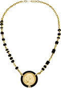 Estate Jewelry:Necklaces, Gold Coin, Rubber, Gold Necklace. ...