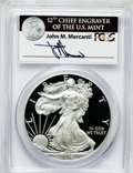 Modern Bullion Coins, 2010-W $1 One Ounce Silver Eagle Insert autographed By John M.Mercanti,12th Chief Engraver of the U.S. Mint, PR70 Deep C...
