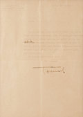 Autographs:Non-American, Erwin Rommel Typed Letter Signed...