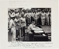Autographs:Military Figures, Chester W. Nimitz Inscribed Photograph Twice Signed....