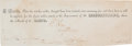 Autographs:Military Figures, Robert E. Lee Certification of Receipt Signed...