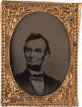 Photography:Tintypes, Abraham Lincoln Portrait, circa 1864....