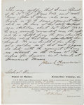 Autographs:Military Figures, Joshua Lawrence Chamberlain Document Signed...