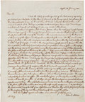 Autographs:U.S. Presidents, John Quincy Adams Autograph Letter Signed Four Times....