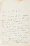 Autographs:Artists, Franz Liszt Autograph Letter Signed...