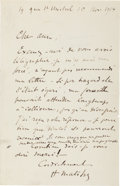Autographs:Artists, Henri Matisse Autograph Letter Signed... (Total: 2 Items)