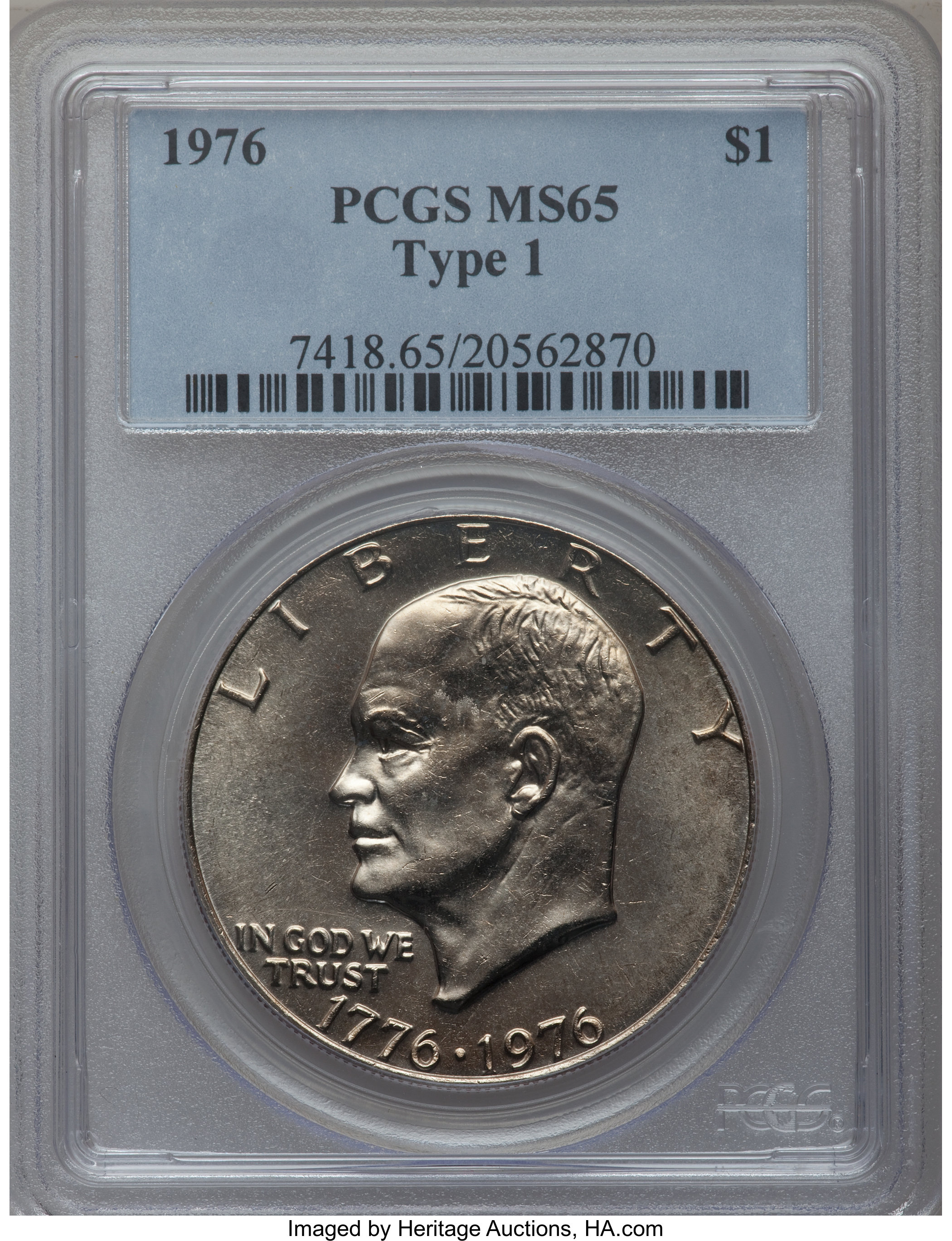 1976 TYpe 2 Choice Ucirculated  Eisenhower Dollar PCGS MS65