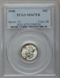 Mercury Dimes: , 1940 10C MS67 Full Bands PCGS. PCGS Population (330/24). NGCCensus: (313/6). Mintage: 65,361,828. Numismedia Wsl. Price fo...