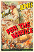 """Movie Posters:Western, For the Service (Universal, 1936). One Sheet (27"""" X 41"""").. ..."""