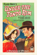 "Movie Posters:Western, Under the Tonto Rim (Paramount, 1928). One Sheet (27"" X 41"") Style B.. ..."