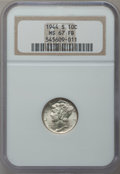 Mercury Dimes: , 1944-S 10C MS67 Full Bands NGC. NGC Census: (236/7). PCGSPopulation (262/4). Mintage: 49,490,000. Numismedia Wsl. Pricefo...