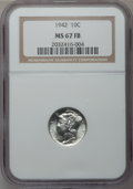 Mercury Dimes: , 1942 10C MS67 Full Bands NGC. NGC Census: (222/1). PCGS Population(155/4). Mintage: 205,432,336. Numismedia Wsl. Price for...