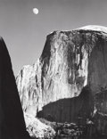 Photographs, ANSEL ADAMS (American, 1902-1984). Moon and Half Dome, 1960. Gelatin silver, printed by Alan Ross. 9-1/2 x 7-1/2 inches ...