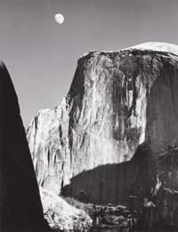 ANSEL ADAMS (American, 1902-1984) Moon and Half Dome, 1960 Gelatin silver, printed by Alan Ross 9