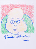 Mainstream Illustration, DANIEL PINKWATER (American, b. 1941). Doodle for Hunger,2009. Ink and conte crayon on paper. 9 x 12 in.. Signed.Be...