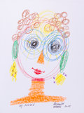 Mainstream Illustration, ALLESSANDRO MENDINI (Italian, b. 1931). Doodle for Hunger,2005. Conte crayon on paper. 9 x 12 in.. Signed. Benefiti...