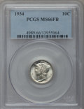 Mercury Dimes: , 1934 10C MS66 Full Bands PCGS. PCGS Population (396/193). NGCCensus: (148/68). Mintage: 24,080,000. Numismedia Wsl. Price ...