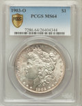 Morgan Dollars, 1903-O $1 MS64 PCGS Secure. PCGS Population (3997/2694). NGCCensus: (2518/1681). Mintage: 4,450,000. Numismedia Wsl. Price...