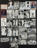 Baseball Collectibles:Others, Baseball Greats Signed Postcards, Photographs and Oversized CardsLot of 29....
