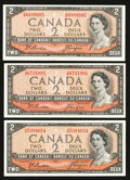 Canadian Currency: , Oh Beattie-Coyne $2s.. ... (Total: 3 notes)