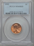 Lincoln Cents: , 1992 1C MS68 Red PCGS. PCGS Population (143/9). Numismedia Wsl.Price for problem free NGC/PCGS coin in...
