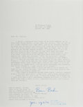 Autographs:Authors, John Updike, American Writer. Typed Note Signed. Updike has addedhis signed response to the bottom margin of a corresponden...