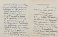 Autographs:Authors, Booth Tarkington, American Writer. Autograph Letter Signed. Fourpages on folded leaf. Envelope. Very good....