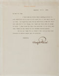 Autographs:Artists, Maxfield Parrish, American Artist and Illustrator. Typed Letter Signed. Very good....