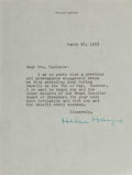 Autographs:Celebrities, Helen Hayes, American Actress. Typed Letter Signed. Horizontalcrease. Overall fine....