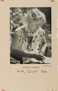 Autographs:Authors, Dorothy Canfield Fisher, American Author and Activist. Signed Leafwith Small Tipped Photo. Very good....