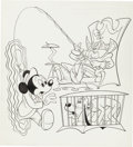 Original Comic Art:Covers, Jack Manning Mickey Mouse #143 Cover Original Art (Whitman,1973)....