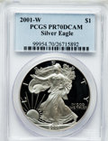Modern Bullion Coins: , 2001-W $1 Silver Eagle PR70 Deep Cameo PCGS. PCGS Population (936).NGC Census: (3494). Numismedia Wsl. Price for problem ...