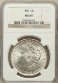Morgan Dollars: , 1886 $1 MS64 NGC. NGC Census: (49655/26166). PCGS Population(39660/17067). Mintage: 19,963,886. Numismedia Wsl. Price for ...