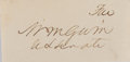 Autographs:Statesmen, William M. Gwin, US Senator, California. Clipped Signature. Verygood....