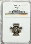 Proof Three Cent Nickels: , 1889 3CN PR67 NGC. NGC Census: (49/1). PCGS Population (50/1).Mintage: 3,436. Numismedia Wsl. Price for problem free NGC/P...