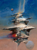 Pulp, Pulp-like, Digests, and Paperback Art, JOHN CONRAD BERKEY (American, 1932-2008). Skylab. Acrylicand casein on board. 20 x 15 in. (image). Signed verso. ...
