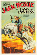 "Movie Posters:Western, Law and Lawless (Majestic, 1932). One Sheet (27"" X 41"").. ..."