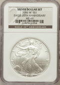 Modern Bullion Coins, 2006-W $1 20th Anniversary Silver Eagle MS69 NGC. NGC Census:(33706/7180). PCGS Population (10788/379). Numismedia Wsl. P...