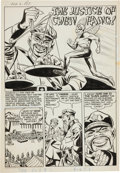 "Original Comic Art:Complete Story, Paul Reinman (attributed) The Adventures of the Fly #3Complete 6-page Story ""The Justice of Chen Fang"" Original A..."