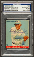 Autographs:Sports Cards, Signed 1933 Goudey Freddie Lindstrom #133 PSA/DNA Authentic. ...