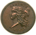 Half Cents, 1793 1/2 C MS62 Brown PCGS. C-3, B-3, R.3....