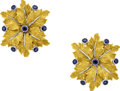 Estate Jewelry:Earrings, Sapphire, Gold Earrings, Buccellati. ...