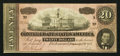 Confederate Notes:1864 Issues, Black and White Signature Variety T67 $20 1864 PF-16 Cr. 516.. ...