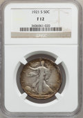 Walking Liberty Half Dollars: , 1921-S 50C Fine 12 NGC. NGC Census: (105/425). PCGS Population(198/610). Mintage: 548,000. Numismedia Wsl. Price for probl...