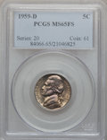 Jefferson Nickels: , 1959-D 5C MS65 Full Steps PCGS. PCGS Population (51/6). NGC Census:(10/15). Numismedia Wsl. Price for problem free NGC/PC...