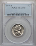 Jefferson Nickels: , 1946-S 5C MS65 Full Steps PCGS. PCGS Population (111/40). NGCCensus: (13/6). Numismedia Wsl. Price for problem free NGC/P...