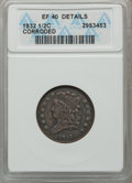 Half Cents: , 1832 1/2 C -- Corroded -- ANACS. XF40 Details. NGC Census: (8/276).PCGS Population (23/347). Mintage: 154,000. Numismedia ...