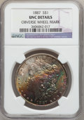 Morgan Dollars: , 1887 $1 -- Obverse Wheel Mark -- NGC Details. UNC. NGC Census:(96/164548). PCGS Population (81/123173). Mintage: 20,290,71...