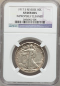 Walking Liberty Half Dollars: , 1917-S 50C Reverse -- Improperly Cleaned -- NGC Details. XF. NGCCensus: (8/763). PCGS Population (17/912). Mintage: 5,554,...